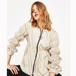 Zara Jacket with Gathered Sleeves XL